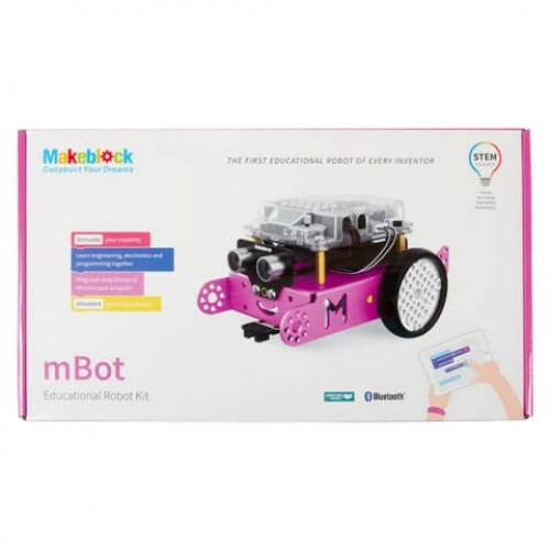 Робот конструктор Makeblock mBot v1.1 - Розовый (версия Bluetooth) 90107